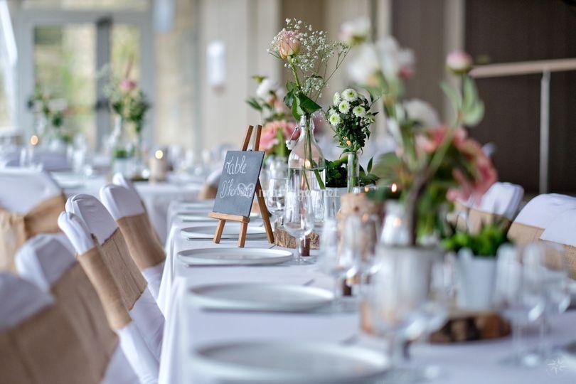 Décorations de table champêtre