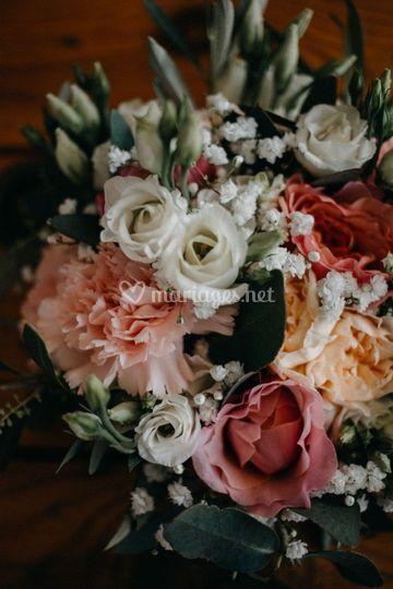Thème bohème, bouquet