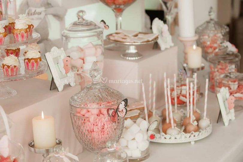 Bapteme fille sweet table