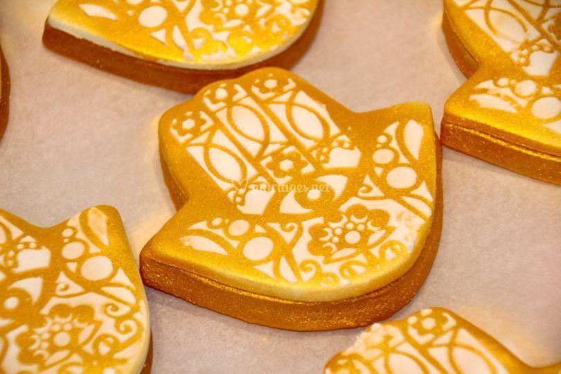 Biscuits cadeaux mariage hénné