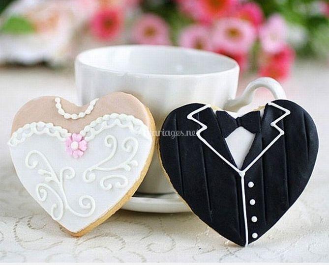 Biscuits marié & mariée à offrir