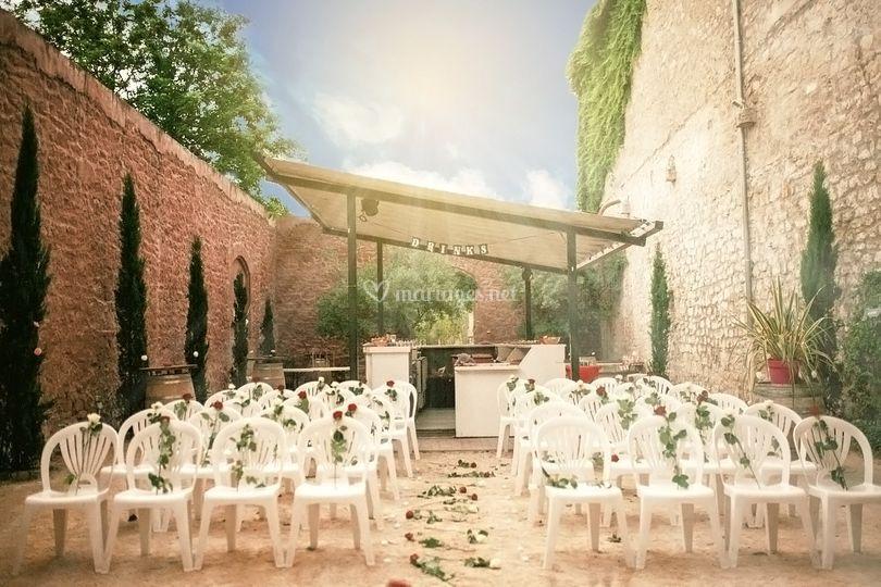 Cérémonie laïque - côté patio