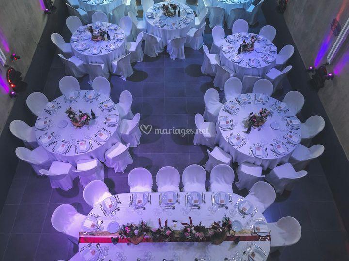 Les tables vues d'en haut