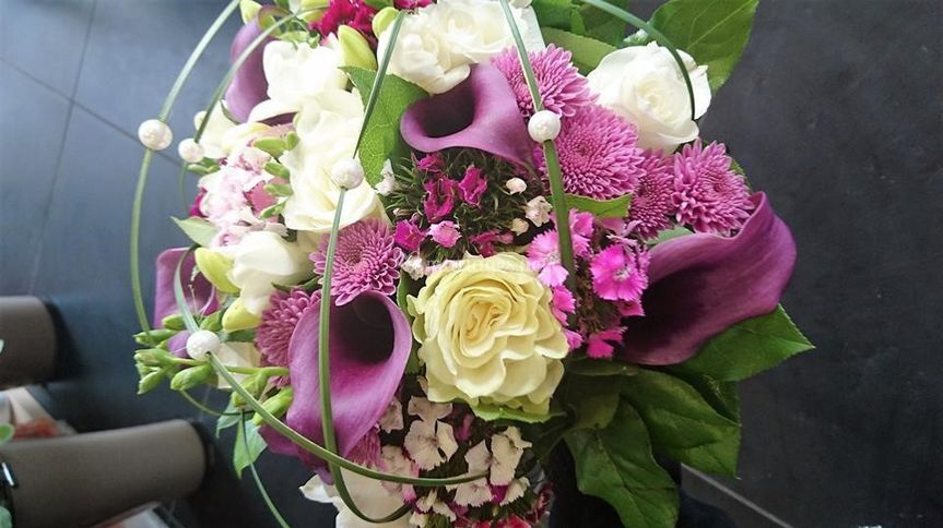 Bouquet rond de mariée