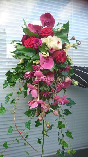 Un bouquet cascade
