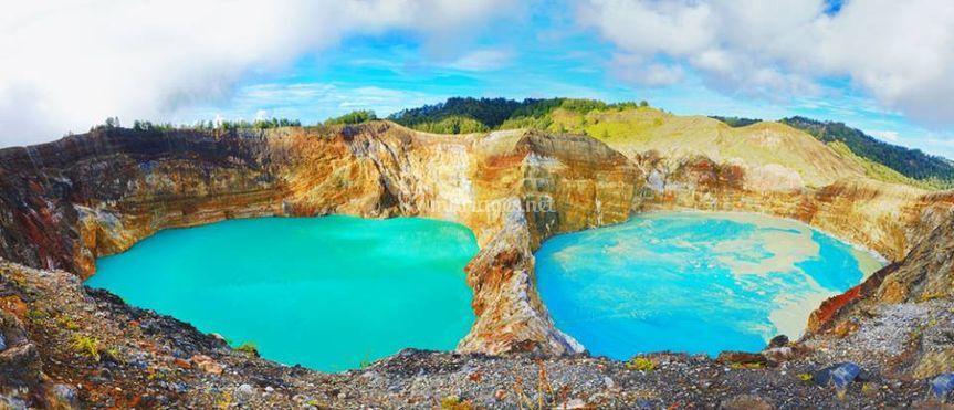 Les lacs de Mont Kelimutu - Indonésire