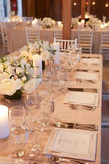 Un centre de table luminé
