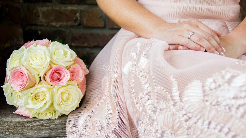 Détail robe mariage civil