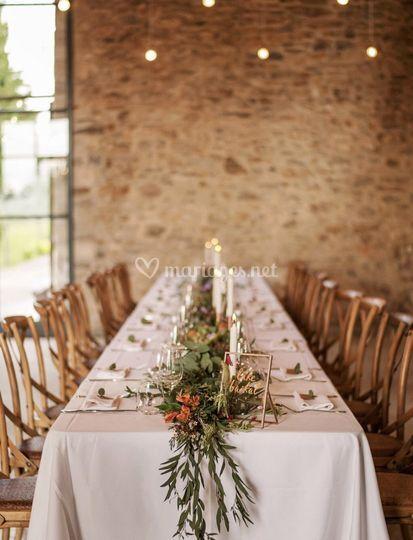 Table façon banquet