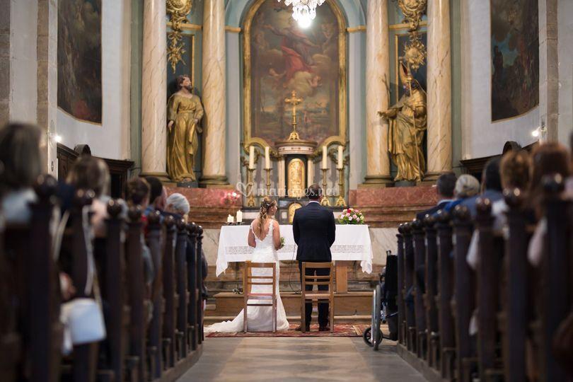 Céremonie à l'église