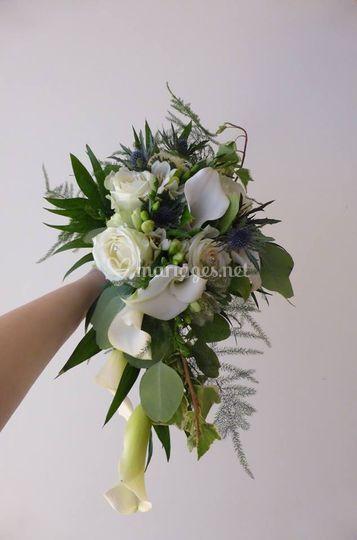 Bouquet chute champêtre
