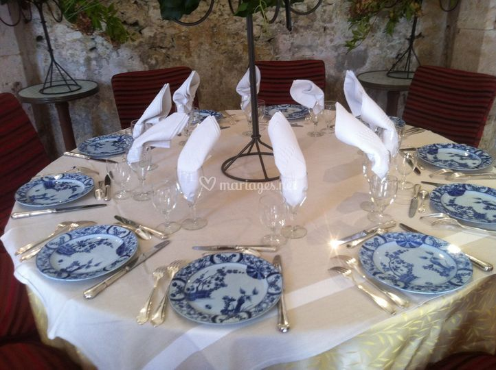 Idée présentation table mariés