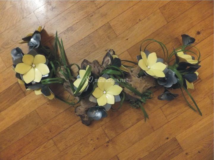 Arrangement floral en ballons
