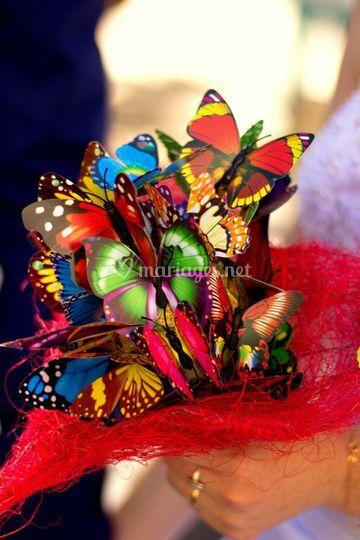 Bouquet papillons