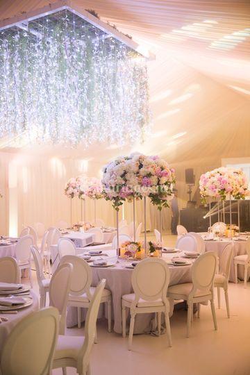Chic et glamour décoration mariage