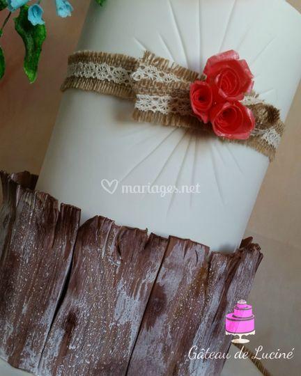 Wedding cake style Rustique