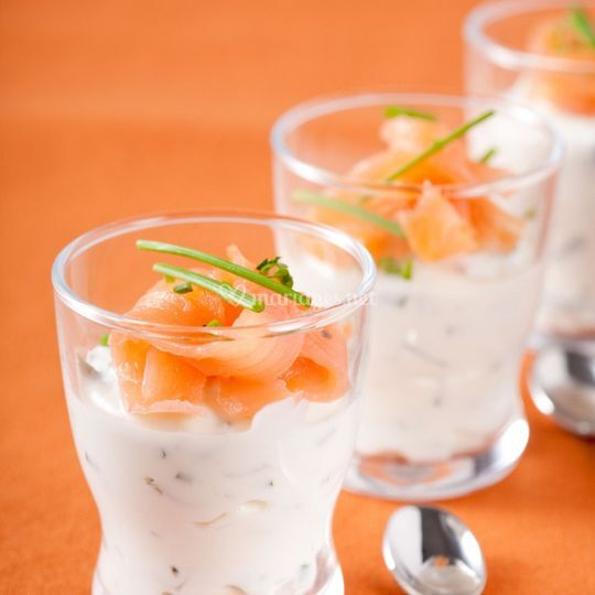 Verrine guacamole saumon
