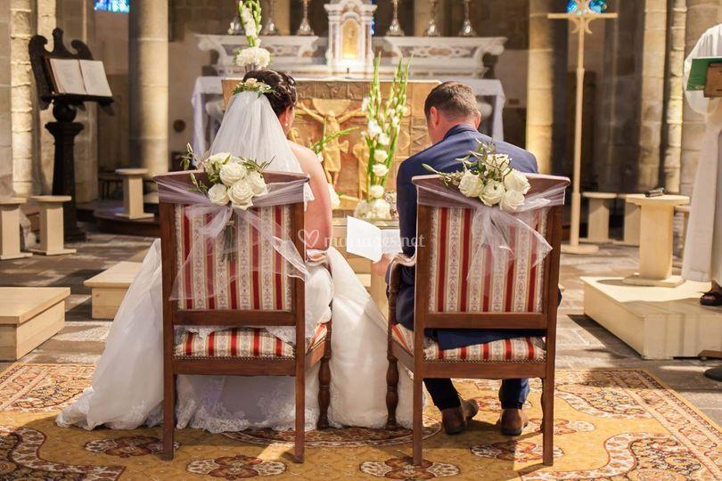 Mariage blanc et vert