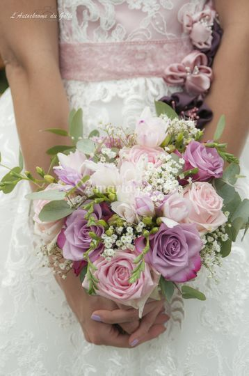Mariage blanc et rose