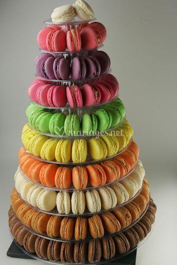 Pyramide de 200 macarons