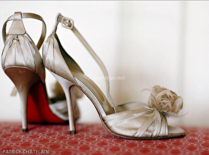 Studio f360 photographie - chaussures de la mariée