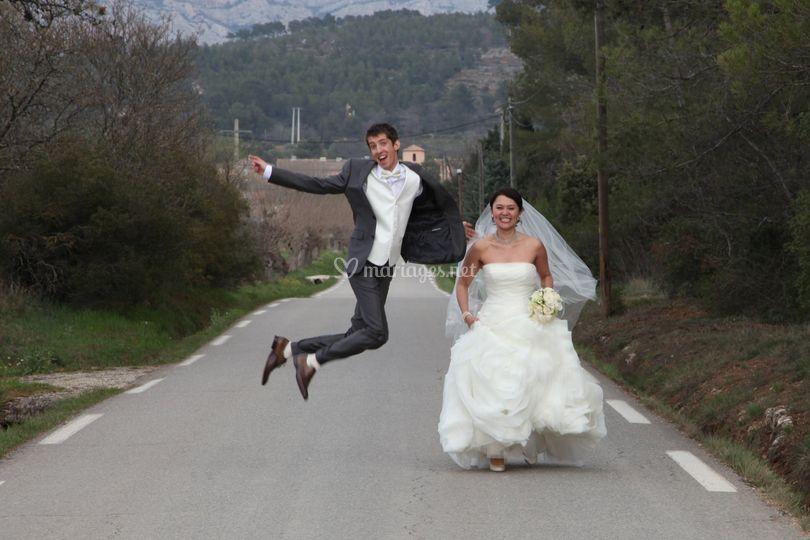 Les mariés sur la route