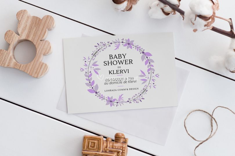 Invitation pour Baby Shower