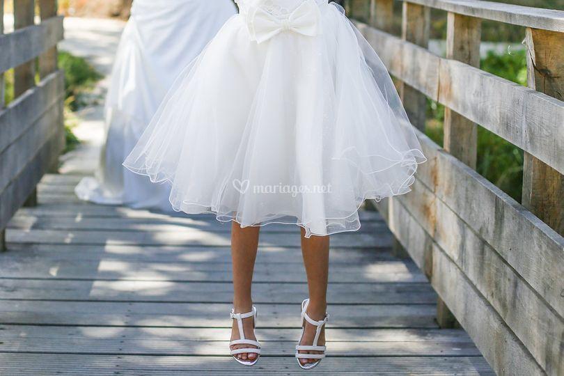 Enfant, robe, heureuse