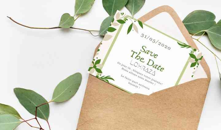 Save the date thème champêtre