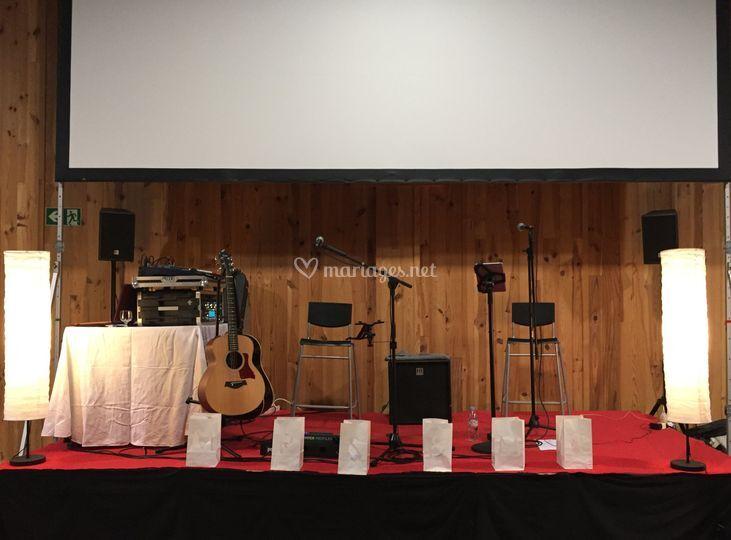 Installation concert mariage