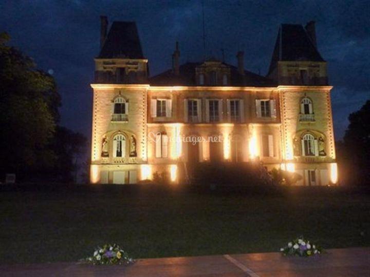 Château de Seyre éclairé