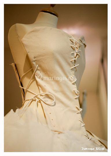 Robe en cours de création dans l'atelier