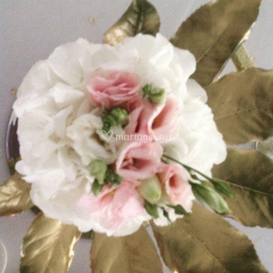 Lisianthus et hortensia