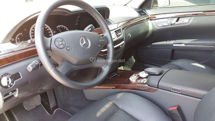 Intérieur d'une Mercedes Classe S