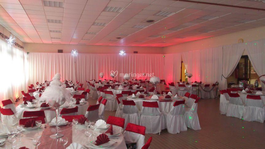 Salle  APRES  la décoration