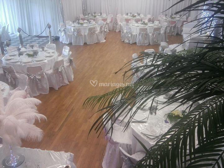 Décoration salle Argent/blanc