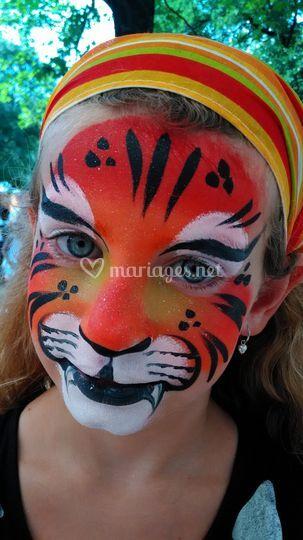 Maquillage tigre