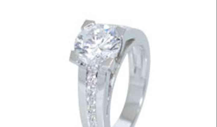 Bague diamant solitaire or blanc
