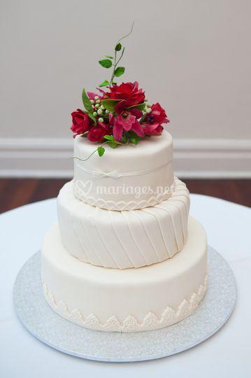 Gâteau fleuris