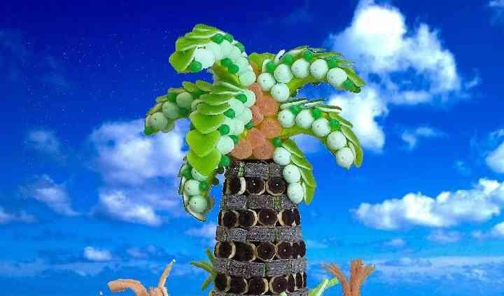 Palmier et île