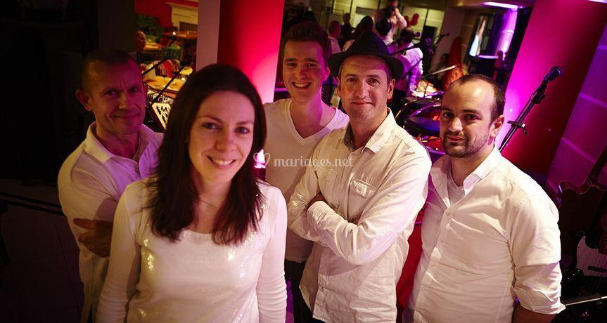 Les 5 musiciens du groupe