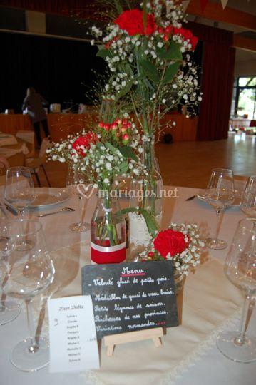 Trio de vases thème guinguette