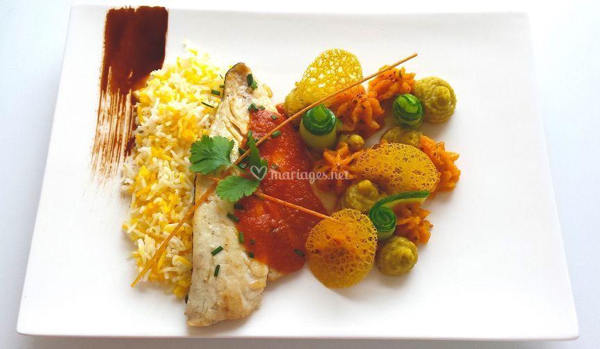 Filet de dorade sauce créole