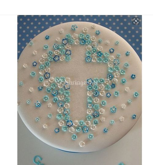 1ère communion bleu