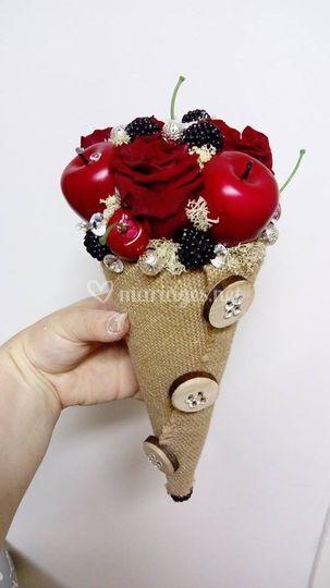 Bouquet sucré roses éternelles