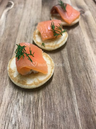 Blinis saumon
