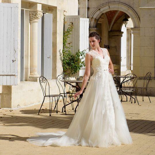 Robe de mariée parure bijoux