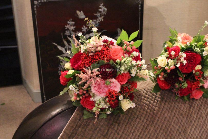 Bouquet de mariée et demoisell