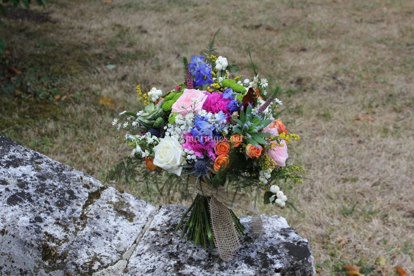 Bouquet couleur champêtre