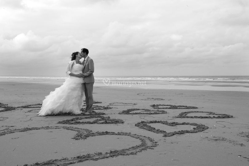 Coeurs plage